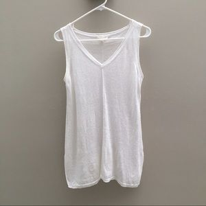 Eileen Fisher White Linen Top